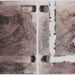 """""""Contiguous Diptych #5""""; Silver gelatin photographic chemigrams; 10"""" x 16.5""""; 2015"""