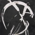 """""""Gesture 17""""; Silver gelatin photographic chemigram; 10"""" x 8""""; 2017"""