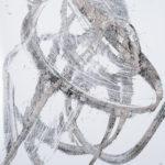 """""""Gesture #20""""; Silver gelatin photographic chemigram; 14"""" x 11""""; 2019"""