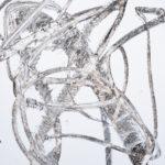 """""""Gesture #24""""; Silver gelatin photographic chemigram; 14"""" x 11""""; 2019"""