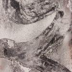 """""""Gesture #4""""; Silver gelatin photographic chemigram; 11"""" x 7""""; 2015"""
