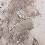 """""""Gesture #7""""; Silver gelatin photographic chemigram; 11"""" x 7""""; 2015"""