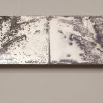 """""""Leaving Piece (2018.2)""""; Silver gelatin photographic chemigrams, thread; 5"""" x approx. 120' overall, dimensions variable; 2018; Gertrude Herbert Institute of Art, Augusta, GA"""