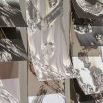 """Mantra #2"" (detail 1); Silver gelatin photographic chemigrams, wood, metal; 37"" x 21"" x 3""; 2018"