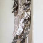 """Mantra #2"" (detail 2); Silver gelatin photographic chemigrams, wood, metal; 37"" x 21"" x 3""; 2018"