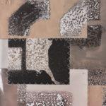 """Mantra #5 (Persist)"" (detail 1); Silver gelatin photographic chemigrams, thread; 20"" x 16""; 2020"