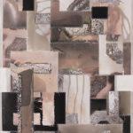 """Mantra #6 (Persist)""; Silver gelatin photographic chemigrams, thread; 20"" x 16""; 2020"