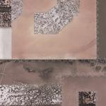 """Mantra #7 (Persist)"" (detail 1); Silver gelatin photographic chemigrams, thread; 20"" x 16""; 2020"