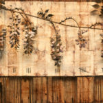 """March""; Hand-colored inkjet photograph on tea bags, mounted on wood; 24"" x 20"" x 1.5""; 2010"