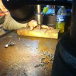Drilling the pinhole aperture