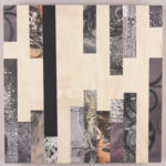 """""""Fissure #1""""; Silver gelatin photographic chemigram collage on wood panel; 12"""" x 12"""" x 2.5""""; 2016"""
